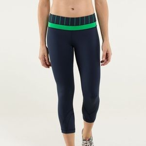 Lululemon Run Inspire Crop Leggings Inkwell Yoga